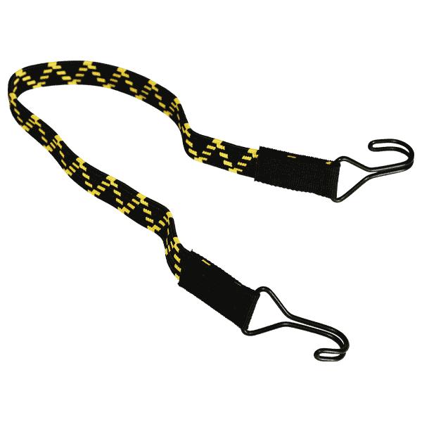 Flachbandgummi mit 2 extra starken Doppelhaken | Flachgummi | Spanngummi flach | Expandergummi