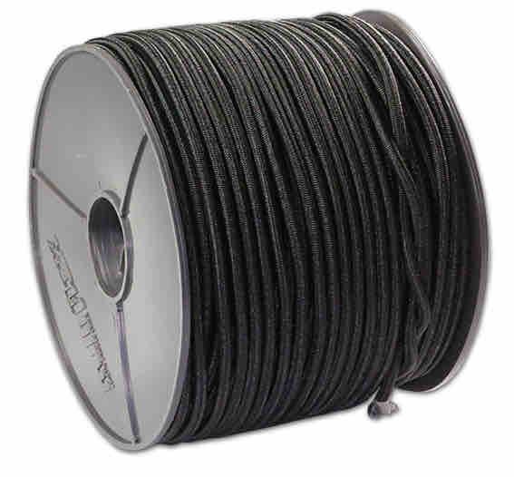 Expanderseil 100 Meter - Farbe schwarz 4mm | Spanngummis mit Kugel | Profit | Ladungssicherung | Gummiseile |